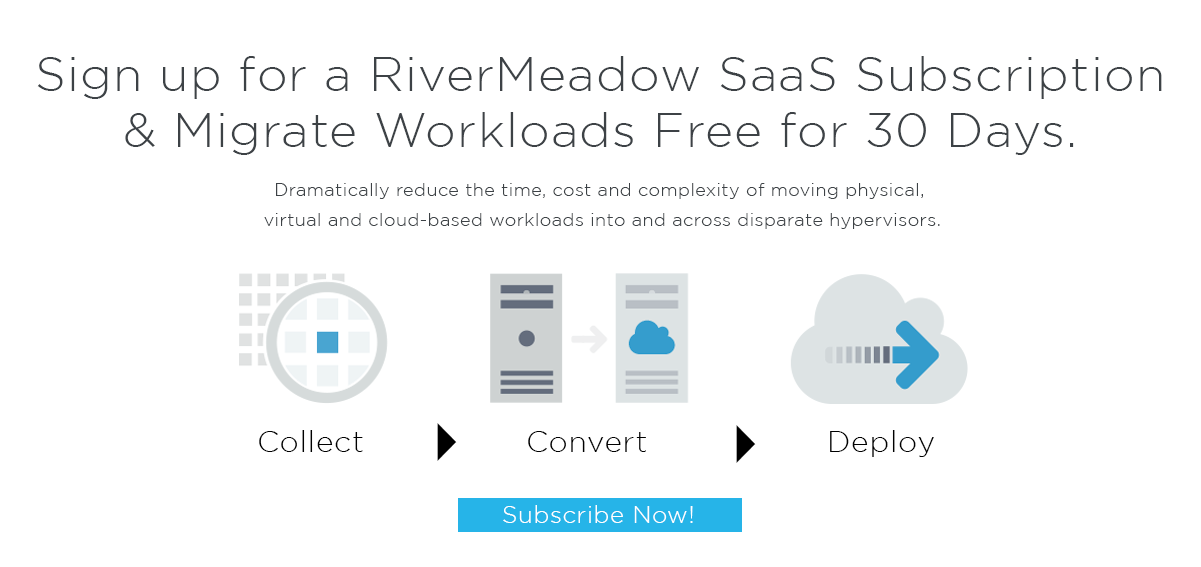 Get a subscription to RiverMeadow SaaS
